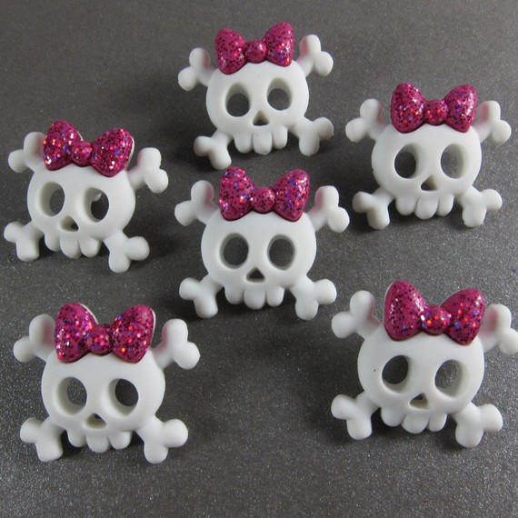 Cute Skull and Bones Buttons