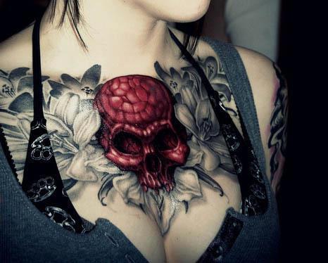 Red skull tattoo - Skullspiration.comSkullspiration.com – skull