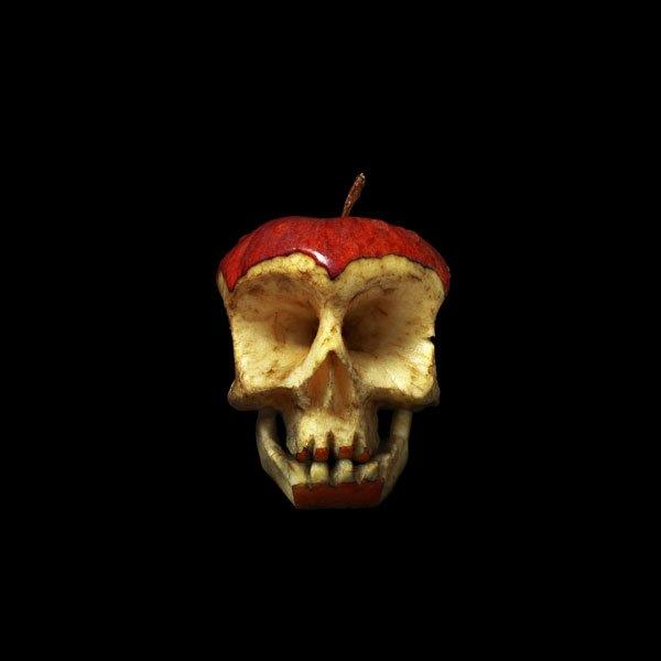Skulls carved