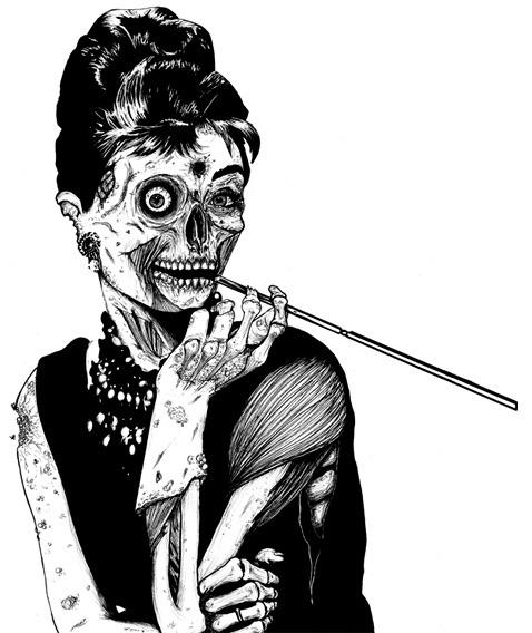 Zombified Audrey Hepburn