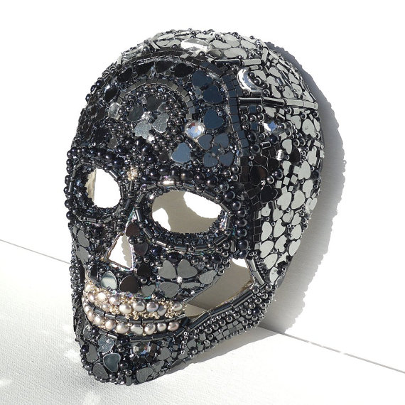 Black Crystal Skull Mask