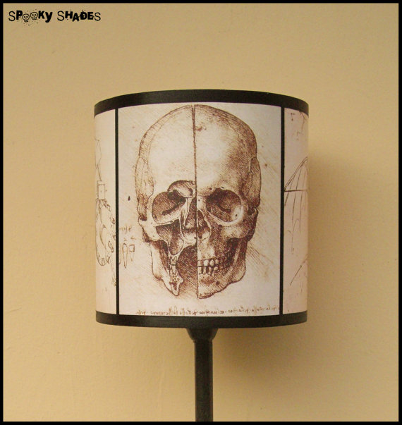 Da Vinci's Creed Skull lamp shade
