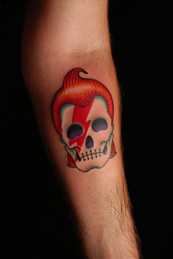 David Bowie skull tattoo