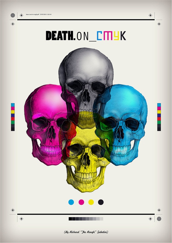 Death on CMYK Design