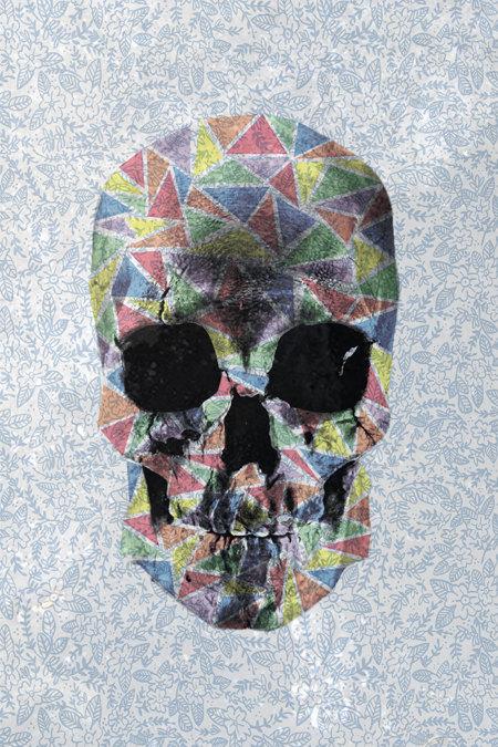 Geometric Skull Poster