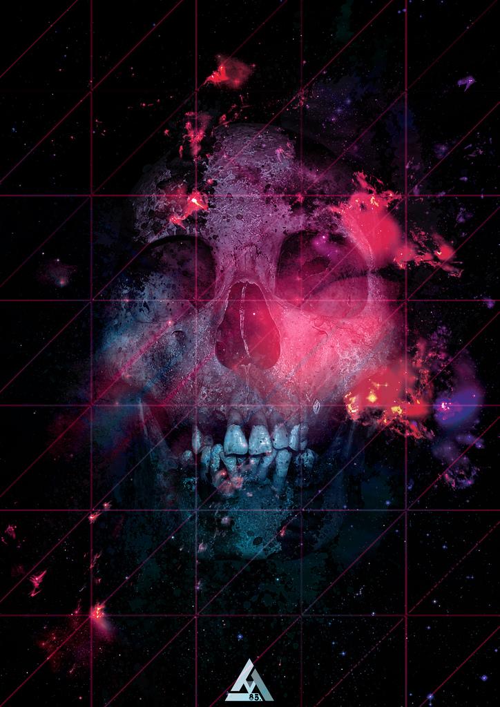 Hipster Space Skull
