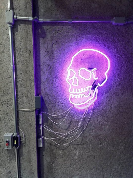 Neon skull voltagebd Image collections