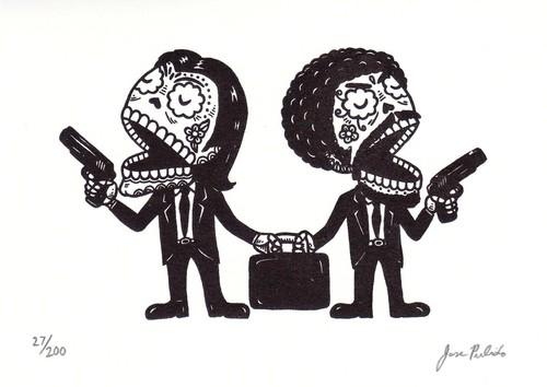 Pulp Fiction skulls
