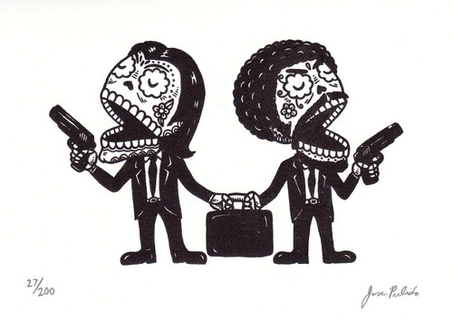 Pulp Fiction skulls