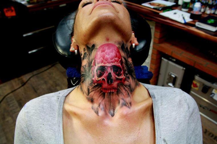 Red skull tattoo 2