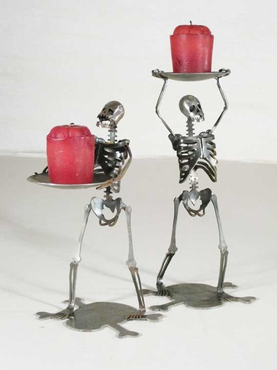 Skeleton Candle Holders