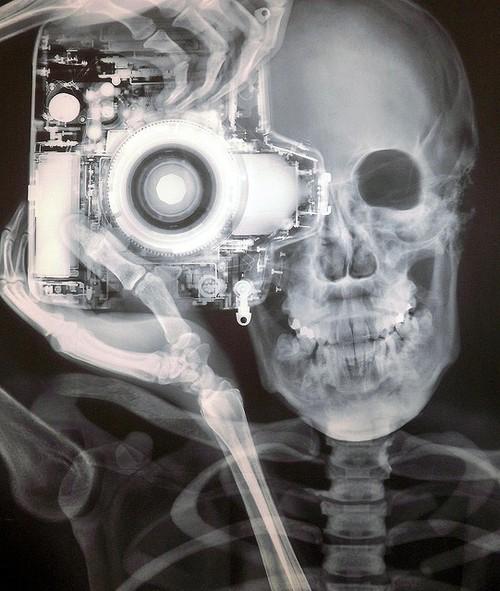 Skeleton photographer