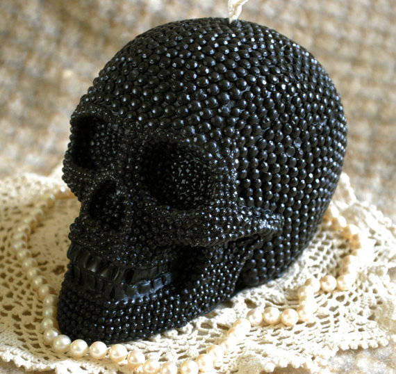 Skull Candle by Peaceblossomcandles