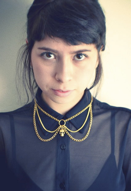 Skull Chain Collar Bib