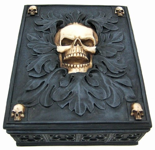 Skull Jewelry Trinket Box