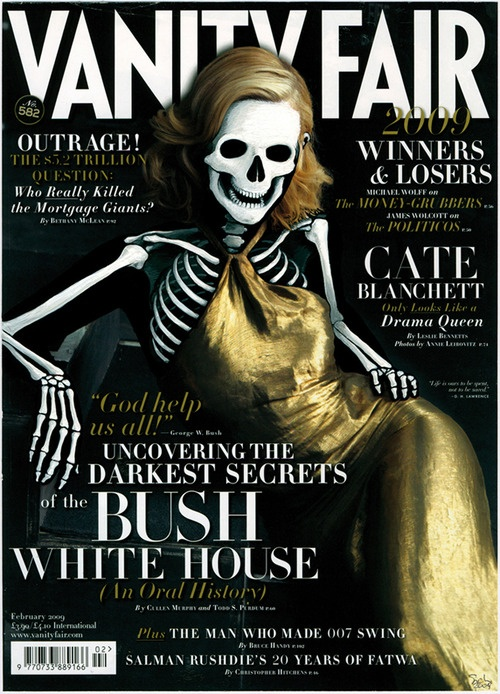 Vanity Fair skeleton cover