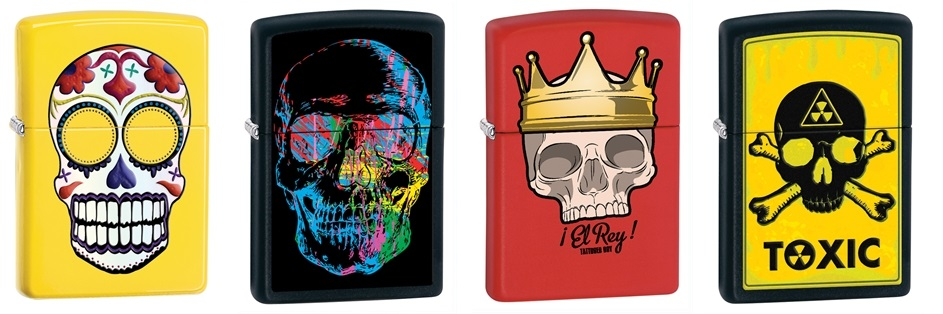 Zippo Lighters with Skulls