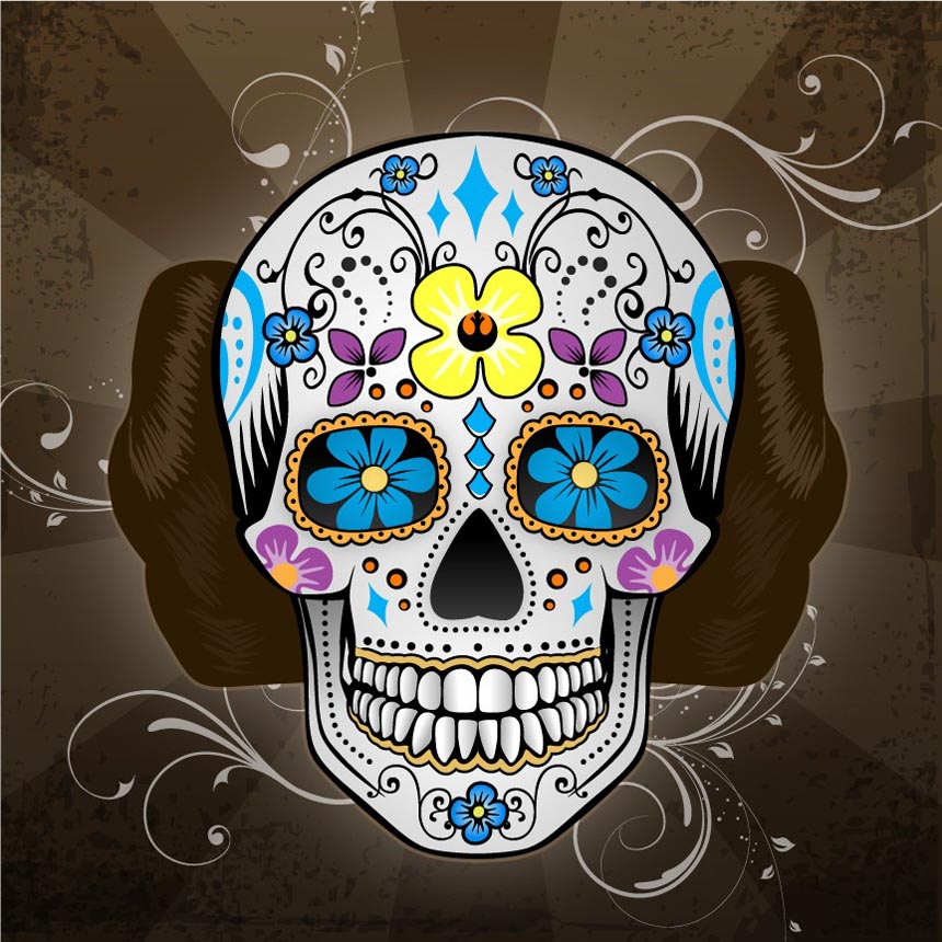 mexican traditional skull styled star wars