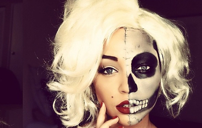 sexy girl skull makeup