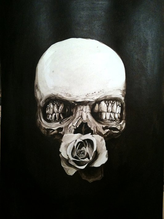 Acrylic Skull by Tony Rose