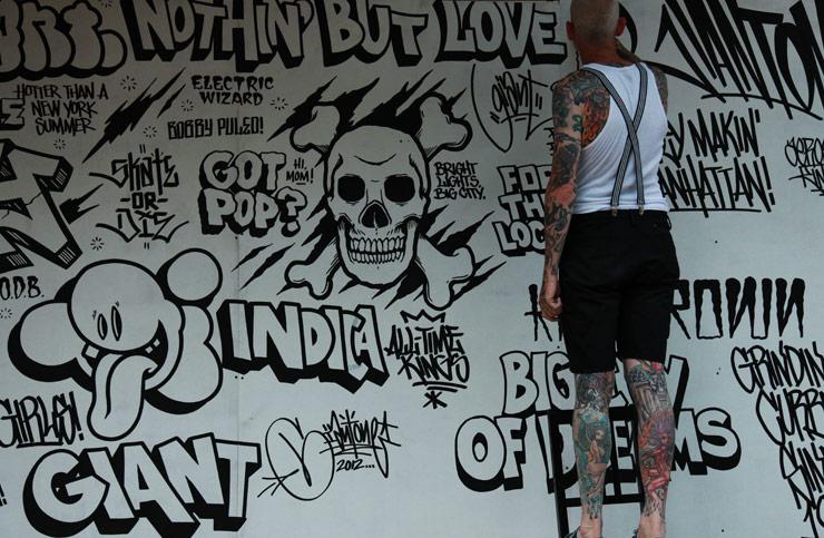 Brooklyn street art Mike Giant