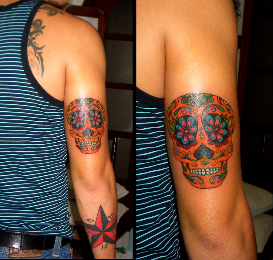 Candy skull tattoo 3