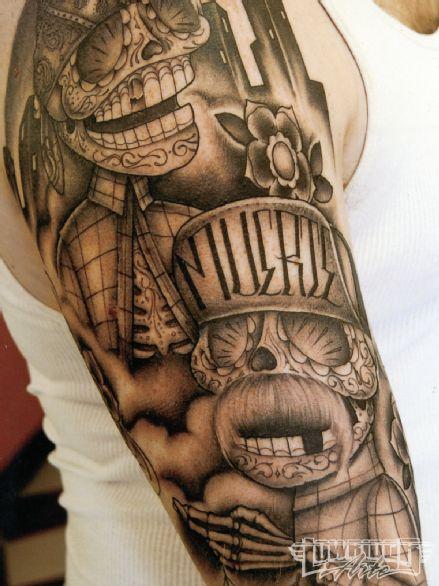 Dave Sanchez Mexican Skull Tattoo