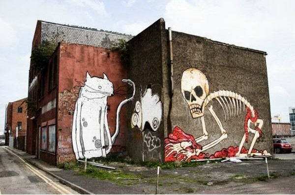 Graffiti skeleton