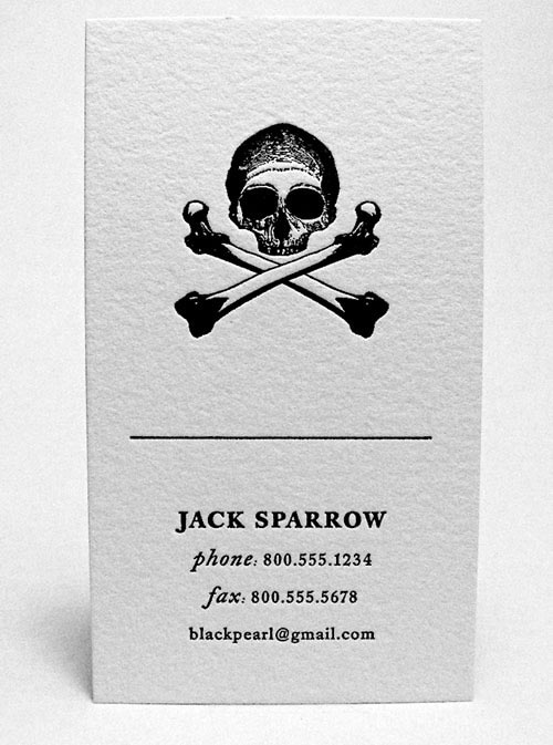 Jack Sparrow business card