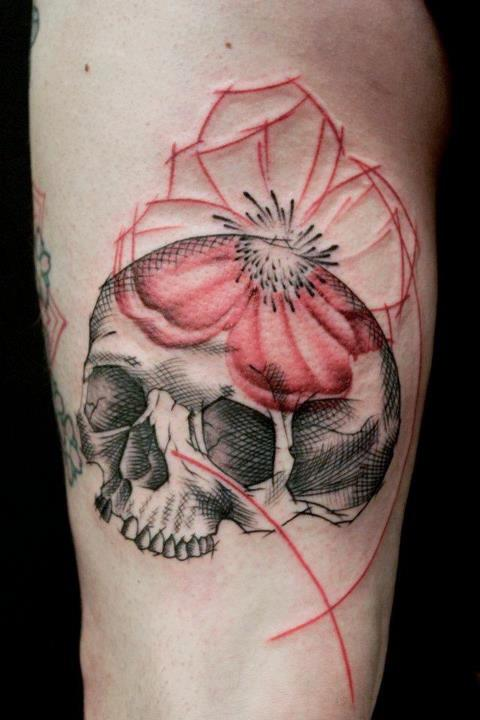 Jacob Pedersen skull tattoo 1
