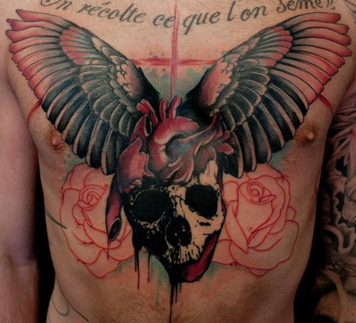 Jacob Pedersen skull tattoo 3