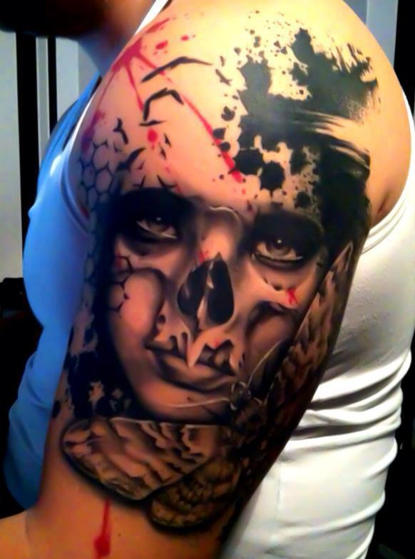 Jacob Pedersen skull tattoo 4
