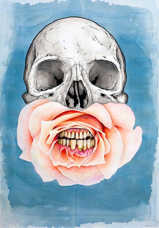 Jeff Proctor skull art 1