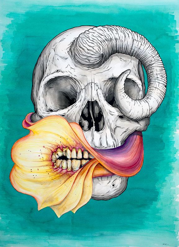 Jeff Proctor skull art 2