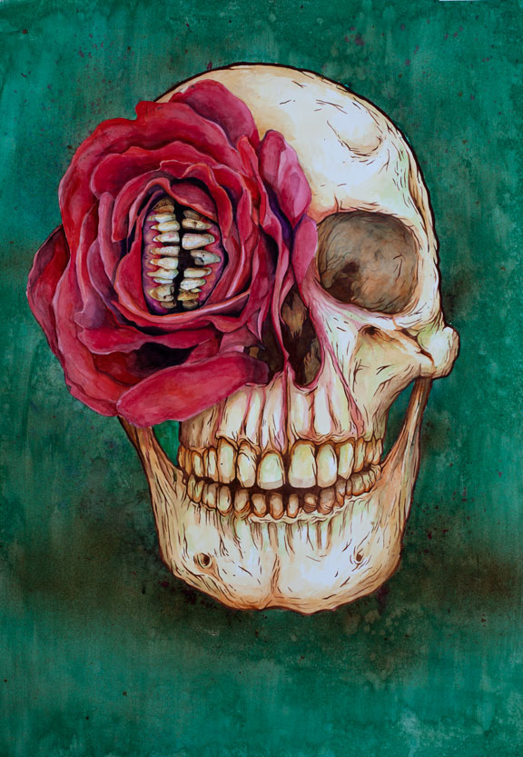 Jeff Proctor skull art 3