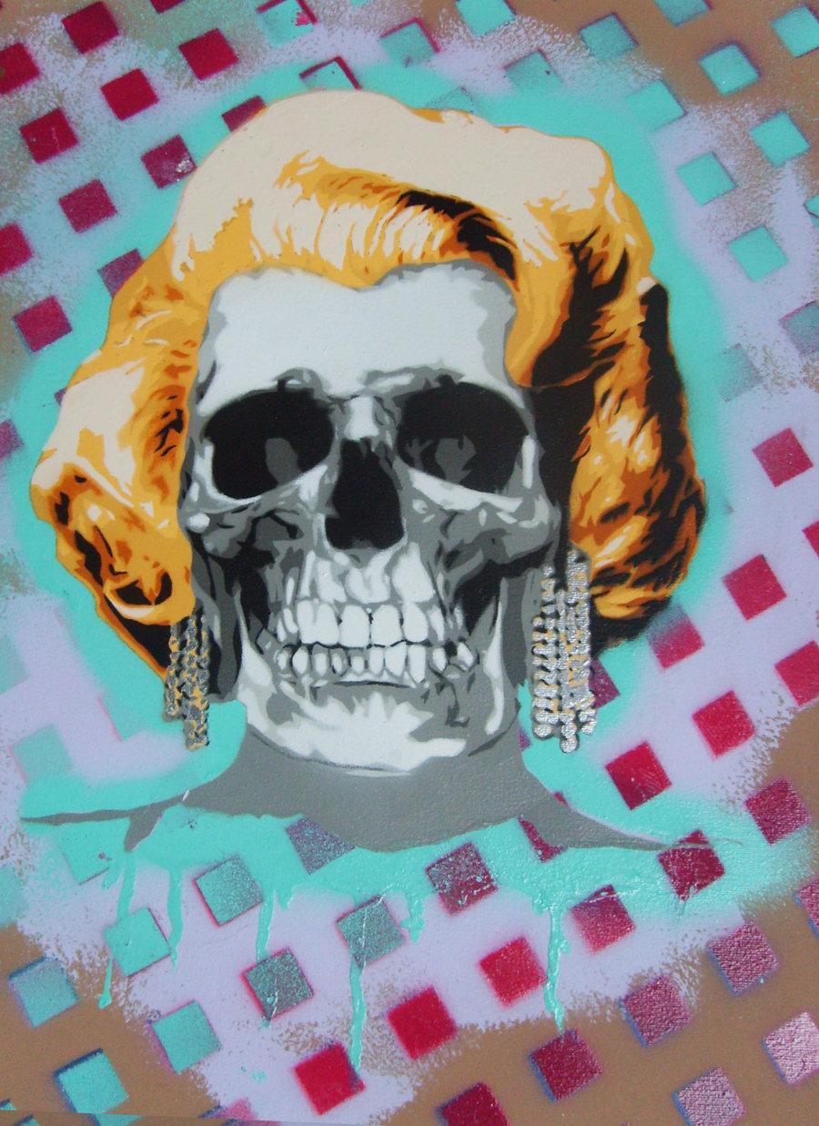 Marilyn Monroe skull 2