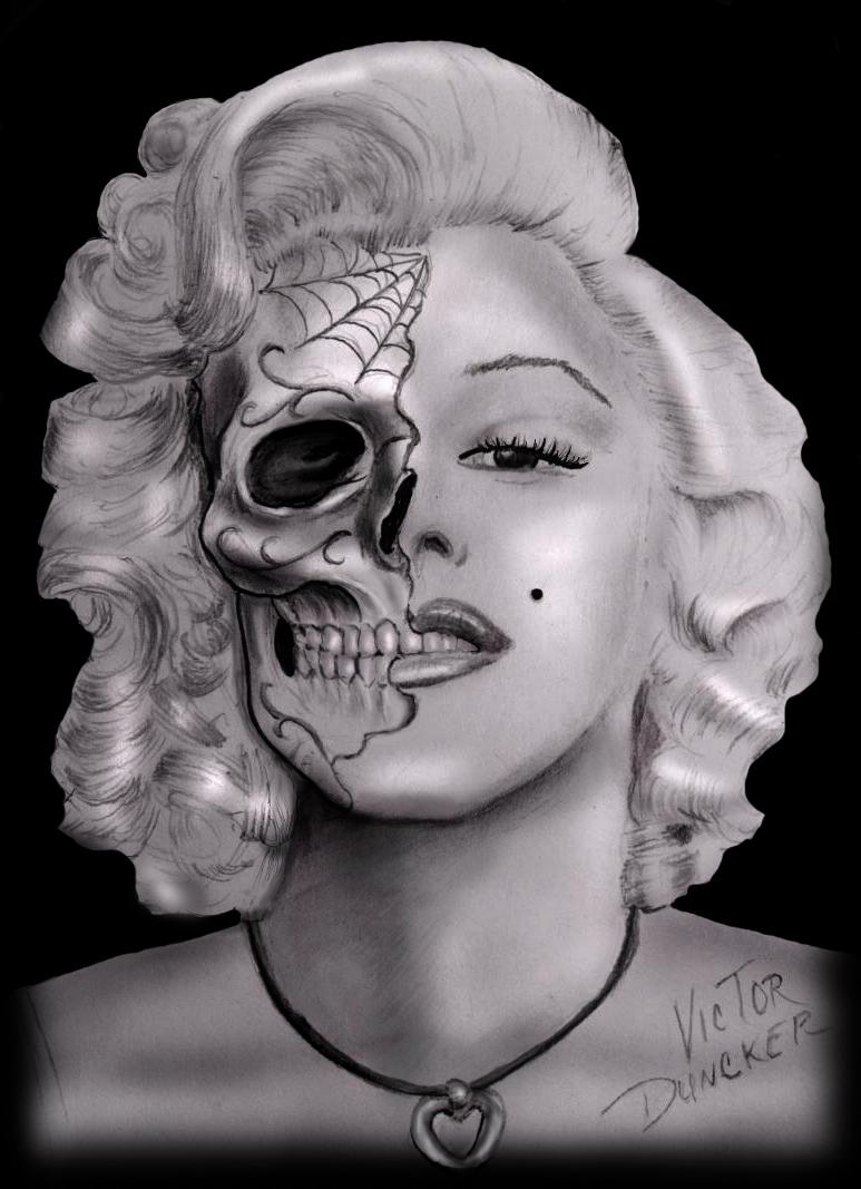Marilyn Monroe skull 6