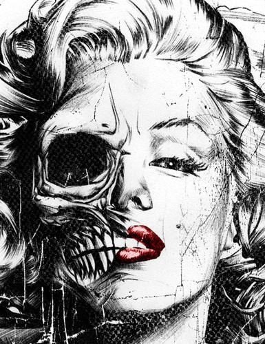 Marilyn Monroe skull 7