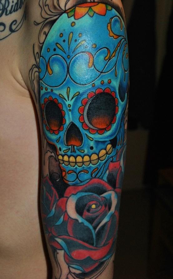Mexican skull tattoo - Skullspiration.com - skull design, art