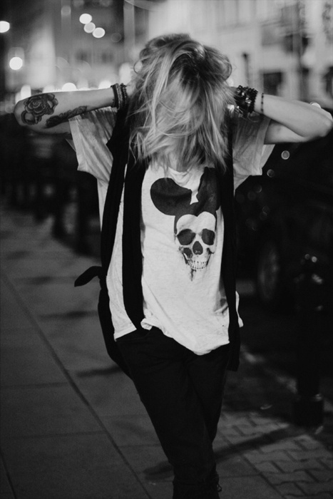 Mickey Mouse skull t shirt