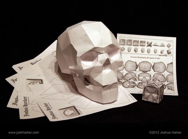 Origami & Papercraft Skull Puzzles