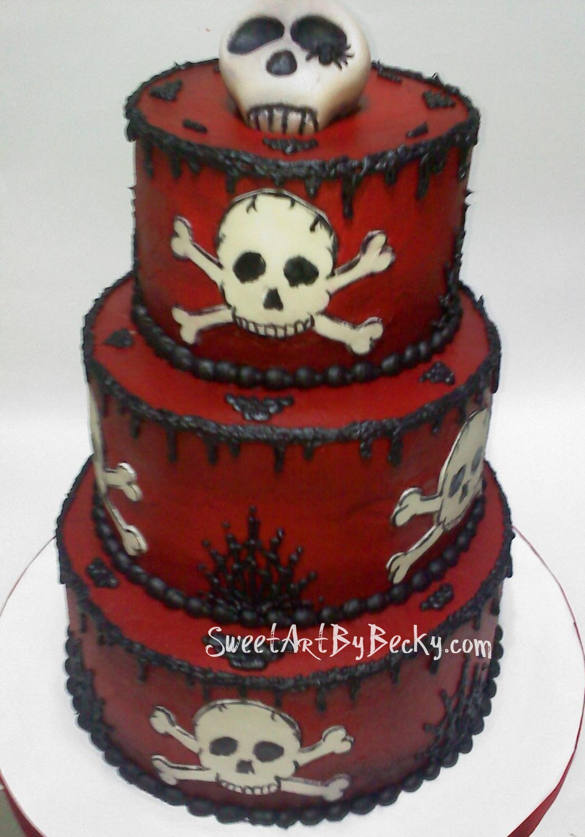 Pirate wedding cake