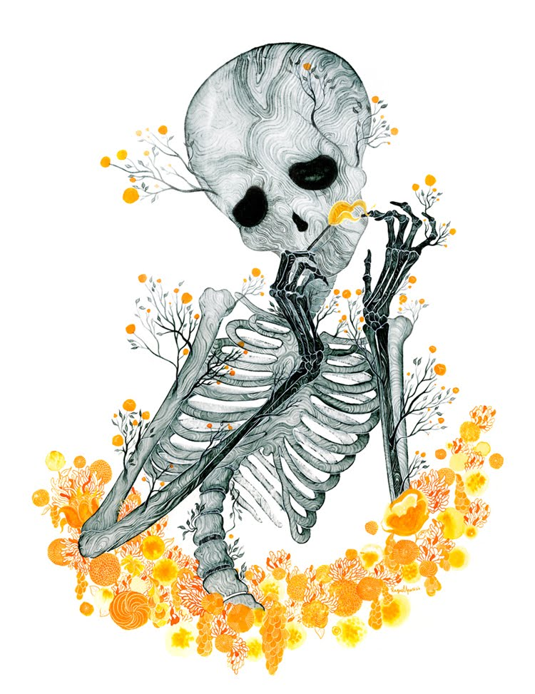 Skeleton drawing