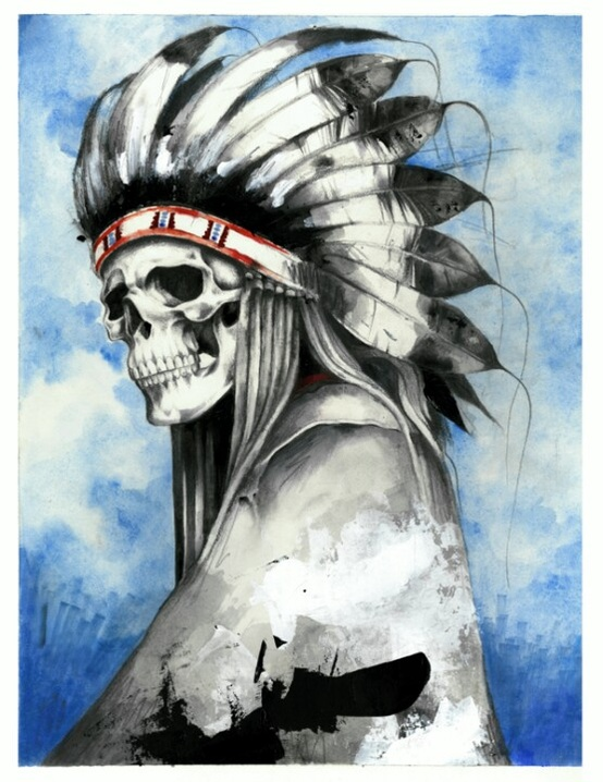 Skull Indian painting