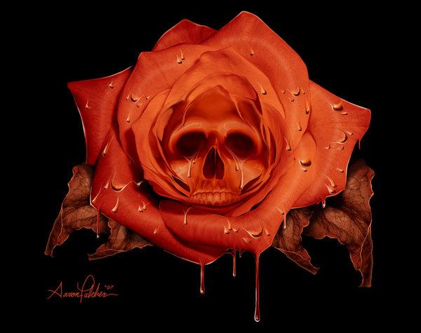 Skull Rose by hardnox