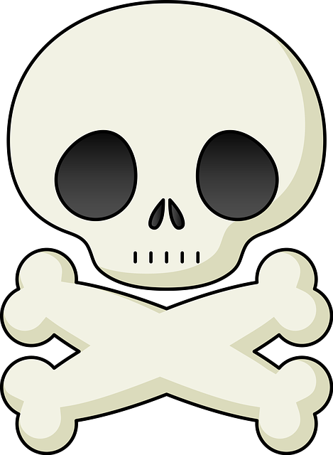Skull and bones cartoon 1