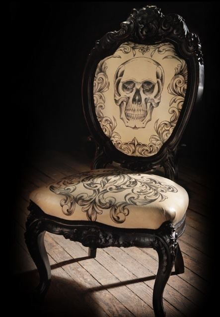Skull chair by Mama Tried studios
