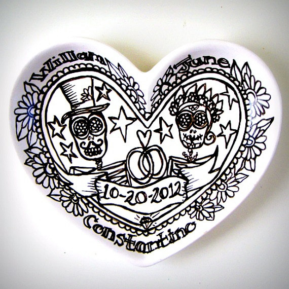 Sugar Skull Heart Dish