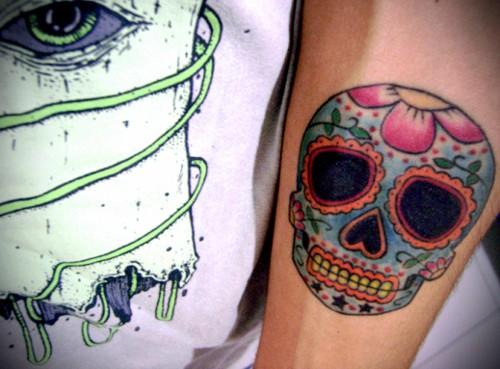 Sugar skull tattoo 2