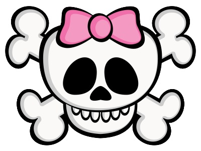 Sweet skull cartoon